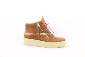 New Fashion Comfort Leather Women Shoes for Casual Lady pictures & photos