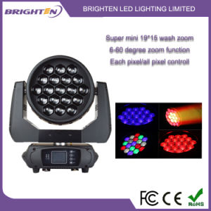 Mini 19*15W Wash Zoom Moving Head Stage Light (BR-1915P) pictures & photos