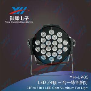 DJ Light 24PCS 3W 3 in 1 LED PAR 64 RGB DMX Nightclub Adornment PAR Light pictures & photos