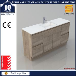 MDF Melaimine Bathroom Cabinet Vanity with Artificial Stone Basin pictures & photos