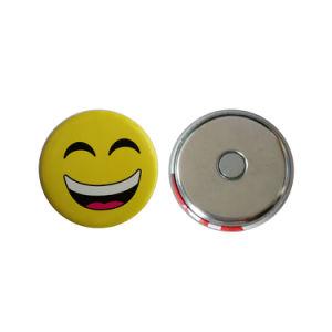 OEM Custom Design Metal Tin Button with Hidden Magnet/ Fridge Magnet pictures & photos
