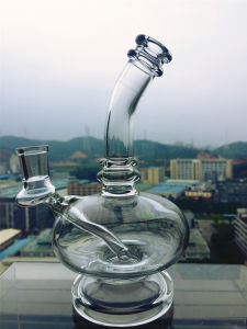 Skull Recycler Percolator Glass Smoking Pipe Bent Neck Inset Honeycomb Perc Oil Rig Electronic Cigarette Glass Pipe pictures & photos