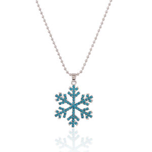 Fashion Crystal Diamond Snowflake Sweater Pendant Necklace Jewelry pictures & photos