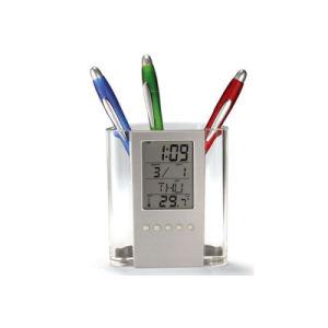 Custom Transparent Semi-Circular Plastic Pen Holder with Calendar pictures & photos
