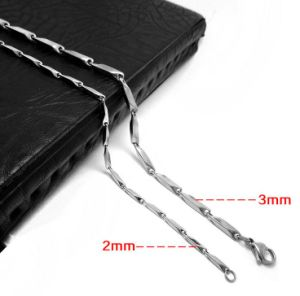 Necklace Bar Chain Fashion Accessories 316L Stainless Steel 2.0mm 3.0mm pictures & photos