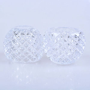 Wholesale Half Ball Crystal Glass Candler Holder Decoration pictures & photos