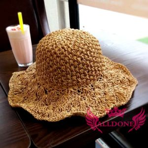 Fashion Hand Crochet Summer Spring Lady Girl Paper Bucket Hat pictures & photos