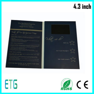 4.3inch Business Cards, Video Greeting Cards, Business Card with LCD pictures & photos