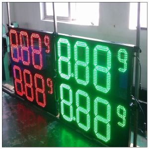 Outdoor Red Green White Color LED Oil Price Display Sign for Gas Station Board pictures & photos