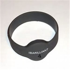 Customized Black RFID Silicone Wrist Band pictures & photos