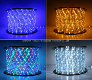 Round Two Wires White Color 36LEDs 2.2W/M LED Rope Light/Outdoor Light/LED Strip Light/Neon Light/Christmas Light/Holiday Light/Hotel Light/Bar Light LED Strip pictures & photos