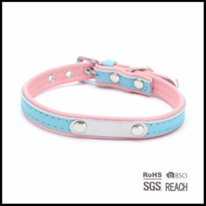 Pet Supply Products Accesories Custom Real Leather Unique Pet ID Collar pictures & photos