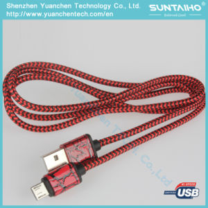 Nylon Braided Micro USB Data Cable for Android pictures & photos