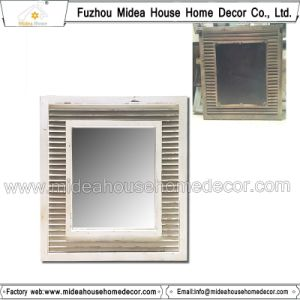 Rustic Rectangular Decorative Wooden Wall Frame Mirror