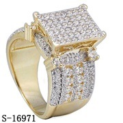 New Designs 14k Gold Plated Sterling Silver CZ Rings. pictures & photos