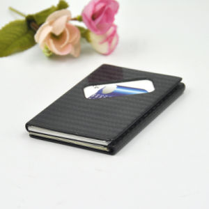 Rectangular Fashion Carbon Fiber Card Box Fancy Cheap Large Black Card Stock Box pictures & photos