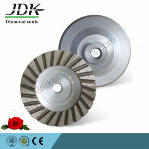 4 Inch Aluminum Turbo Diamond Grinding Cup Wheel for Granite Stone pictures & photos
