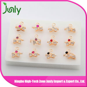 Fashion Popular jewellery Bow Ring Synthetic Diamond Ring pictures & photos