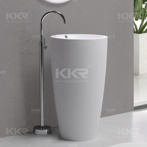 Luxury Sanitary Ware Resin Stone Bathroom Freestanding Washing Basin pictures & photos