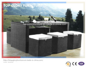 Outdoor Furniture Hand Woven Synthetic Rattan Wicker Barstool Sets (TG-1038) pictures & photos
