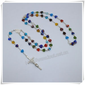 Heart Coloured Glaze Beads Necklace/Rosary/Rosaries/Bracelet/Jewelry (IO-cr402) pictures & photos