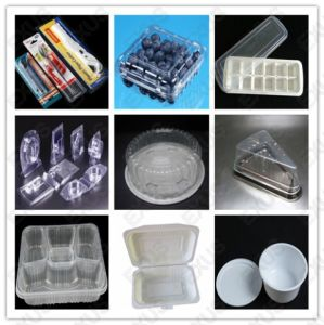 PS Lunch Box Production Line Disposable Food Box, Lunch Box, Take-Away Food Box, Hamburger Box, Fruit Tray Blister Plastic Vacuum Thermoforming Machine pictures & photos