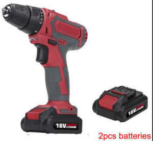 16V Li-ion Two Batteries Cordless Drill pictures & photos