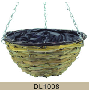Cone Shaped Reed Wicker Hanging Flower Basket pictures & photos