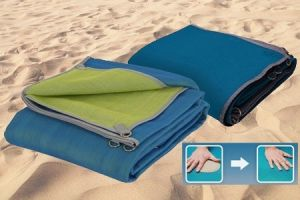 Cheap and Fine Recctangle Sand Free Beach Mat pictures & photos