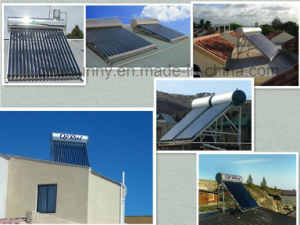 Low Pressure Vacuum Tube Solar Energy Water Heater with Assistant Tank pictures & photos