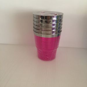 Plastic Cup, Glass, Mug, Tableware, PS, Disposable, Colorful Cup, Silver Rim pictures & photos