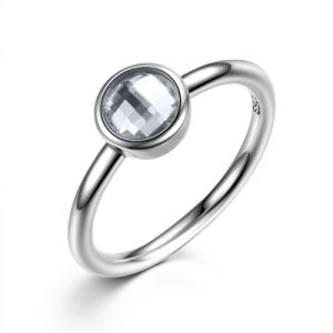 Fashion Jewelry Tibetan Silver Color Glass Gemstone Ring pictures & photos