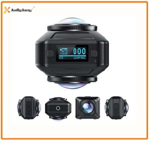 WiFi Wireless Dual Lens Vr Action 360 Camera, Camera 360, 360 Degree Panoramic Action Camera