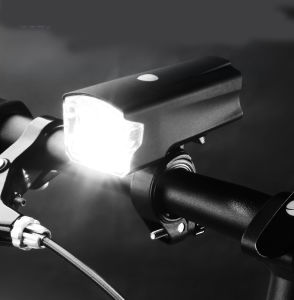 Rechargeable Waterproof Bicycle LED Headlight, 5W Super Bright Bike Front Light, 220 Lumens Lamp, 1200 mAh USB Charging, Black pictures & photos