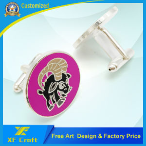 Professional Custom Fashion Metal/Iron/Enamel/Nickel Cufflinks and Tie Pin Set for Men (XF-CF03) pictures & photos