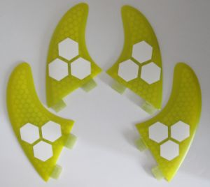 Yellow Colour Glassfiber Honeycomb Surf Fin for Surfboard pictures & photos
