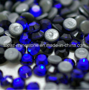Hot Fix Rhinestone Sapphire Ss16 Flatback Glass Strass Iron on Hot Fix Rhinestones (HF-ss16 sapphire /4A grade) pictures & photos