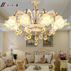 Crystal Sweet Zinc Alloy Atmosphere Candle Chandelier for Bedroom pictures & photos