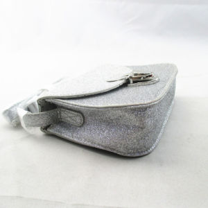 Silver Glitter Kids Messenger Cross Body PU Bag pictures & photos