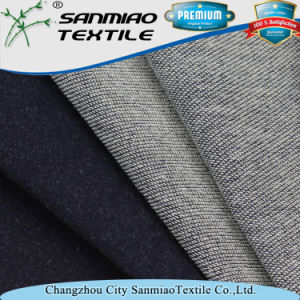 Indigo 300GSM Spandex Inclined Terry Knitting Knitted Denim Fabric for Garments pictures & photos