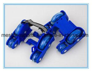 Adjustable Four-Wheel PVC LED Wheel Flashing Roller Skates pictures & photos