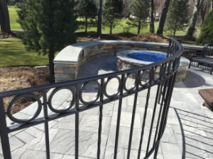 Ce/SGS Interpon Coated Cambered Ornamental Fence for Deck, Balcony and Garden pictures & photos