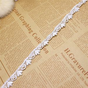 Factory Stock Wholesale 1.5cm Width Embroidery Nylon Lace Polyester Embroidery Trimming Fancy Lace for Garments Accessory & Home Textiles & Curtains pictures & photos