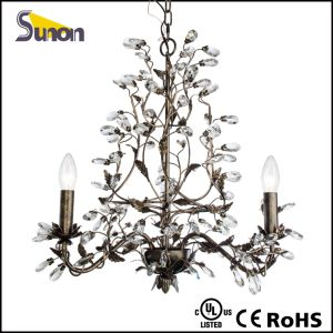 Iron Black Antique Small Crystal Chandelier pictures & photos