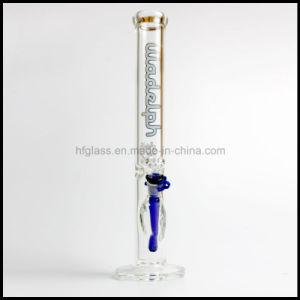 "Hfy Glass 17"" Height 7mm Thick Illadelph Blue Glass Pipe Straight Tube Shisha Thick Water Pipe Smoking in Sets Stock Hookah Hand Blown Heady Tobacco Bubbler pictures & photos"