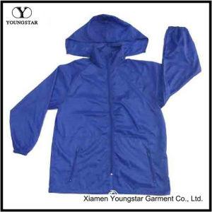 Waterproof Hooded Mens Navy Blue Windbreaker Rain Jacket pictures & photos