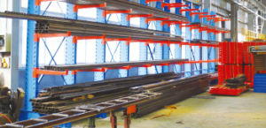 Vertical Warehouse Steel Cantilever Upright Storage Racking