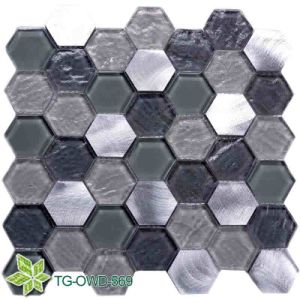 Bathroom / Kitchen Marble Mixing Glass Mosaic (TG-OWD-569) pictures & photos