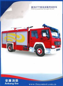 HOWO 6t Powder/Foam Twin-Agent Fire Truck pictures & photos