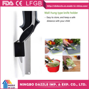Wholesale Food Vegetable Chopper 2 In1 Kitchen Scissors with Cutting Board pictures & photos